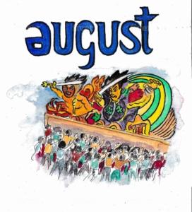 英語の8月