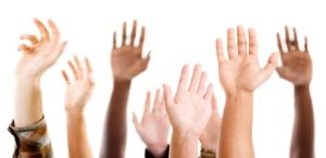 プレゼンの挙手