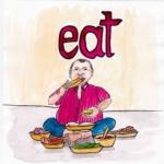 中学英単語 ,eat,食べる