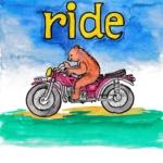 中学英単語 ,ride,乗る