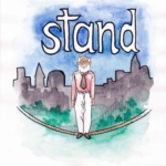 中学英単語 ,stand,立つ