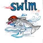 中学英単語 ,swim,泳ぐ