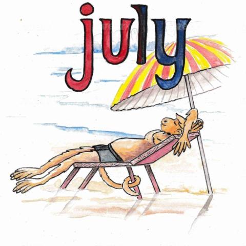 英語の7月