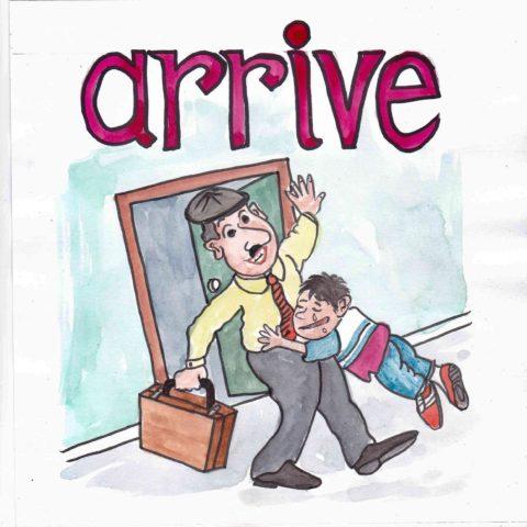 中学英単語 ,arrive,到着する