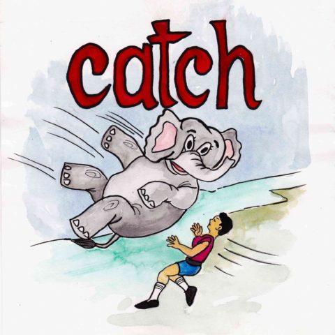 中学英単語 ,catch,捕まえる