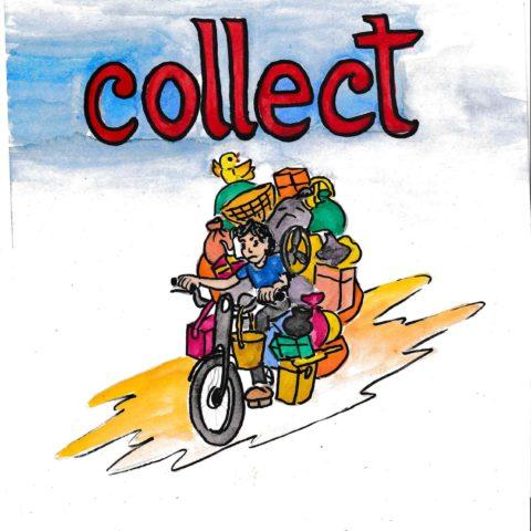 中学英単語 ,collect,集める