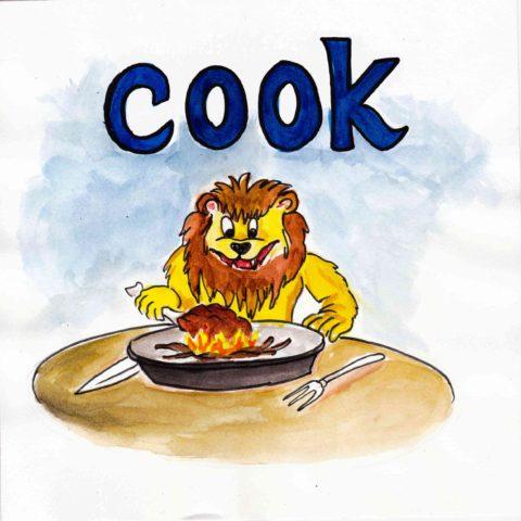 中学英単語 ,cook,料理する