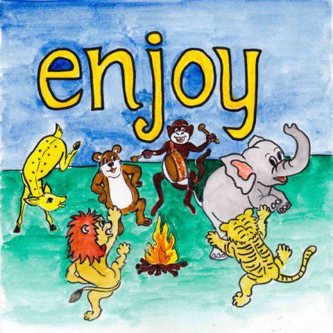 中学英単語 ,enjoy,楽しむ