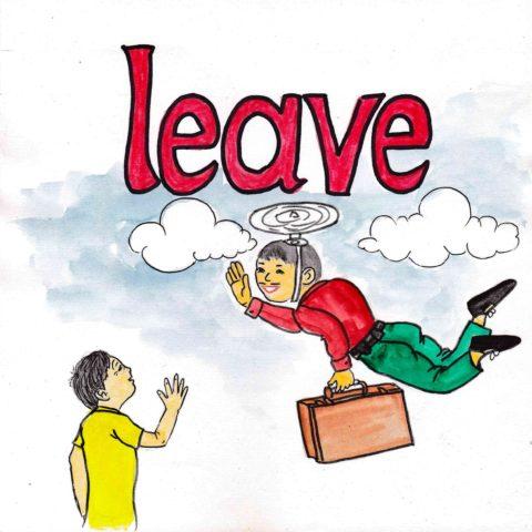 中学英単語 ,leave,去る