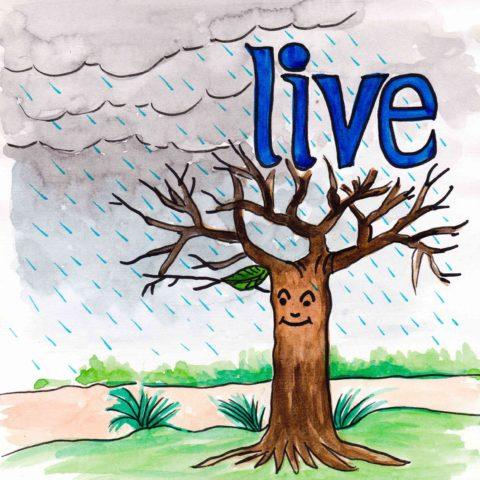中学英単語 ,live,生きる