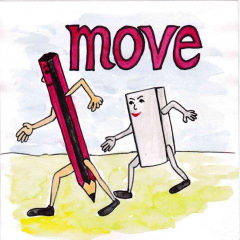 中学英単語 ,move,動く