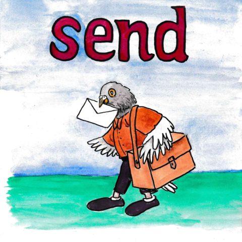 中学英単語 ,send,送る