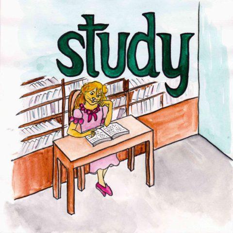 中学英単語 ,study,勉強する