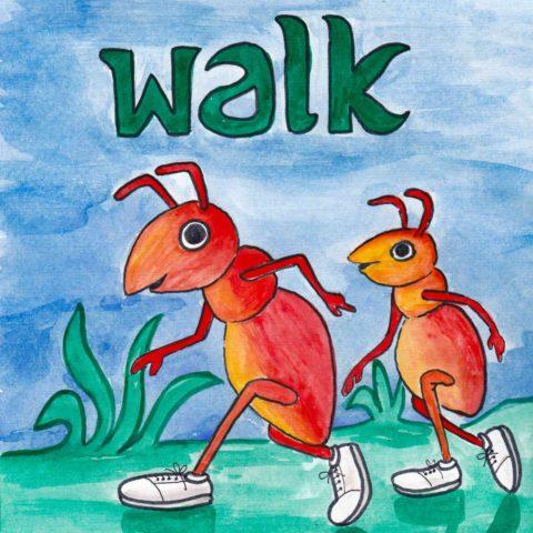 中学英単語 ,walk,歩く